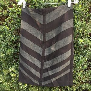 Black and grey chevron skirt